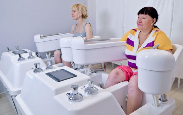 Гидрогальваническая струйноконтрастная ванна